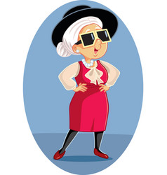 Cartoon Old Fashion Lady Vector Images over 690