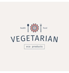 Icons emblems environmentally pure nutrition Vector Image