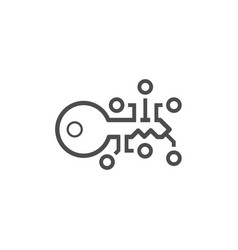 Crypto key management icon Royalty Free Vector Image