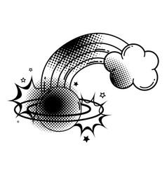 Cute planet saturn kawaii style Royalty Free Vector Image
