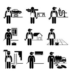 Funny cartoon mechanic Royalty Free Vector Image