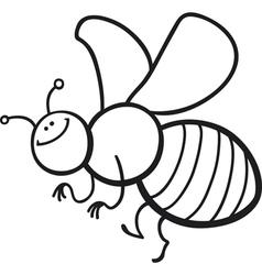 Honey bee cartoon for coloring book Royalty Free Vector