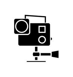GoPro Hero 4 sport camera flat icon Royalty Free Vector