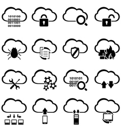 Data and information technology icons Royalty Free Vector