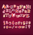 Download Funny Capital Letters Alphabet Royalty Free Vector Image