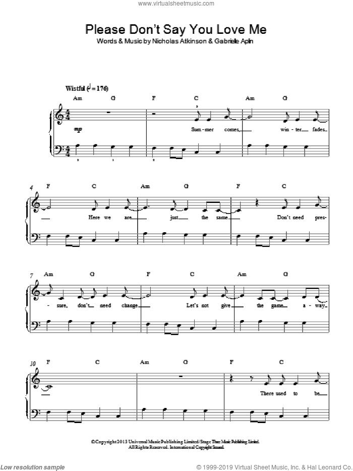 Gabrielle Aplin - Please Dont Say You Love Me (Chords)