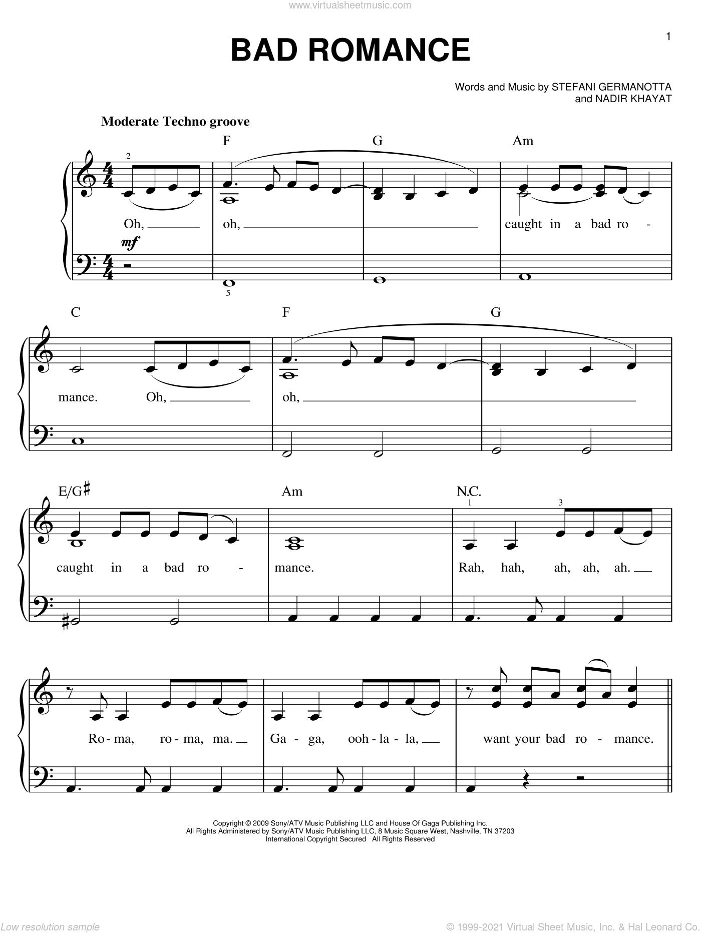 Bad Romance Sheet Music : romance, sheet, music, Romance,, (easy), Sheet, Music, Piano, [PDF]