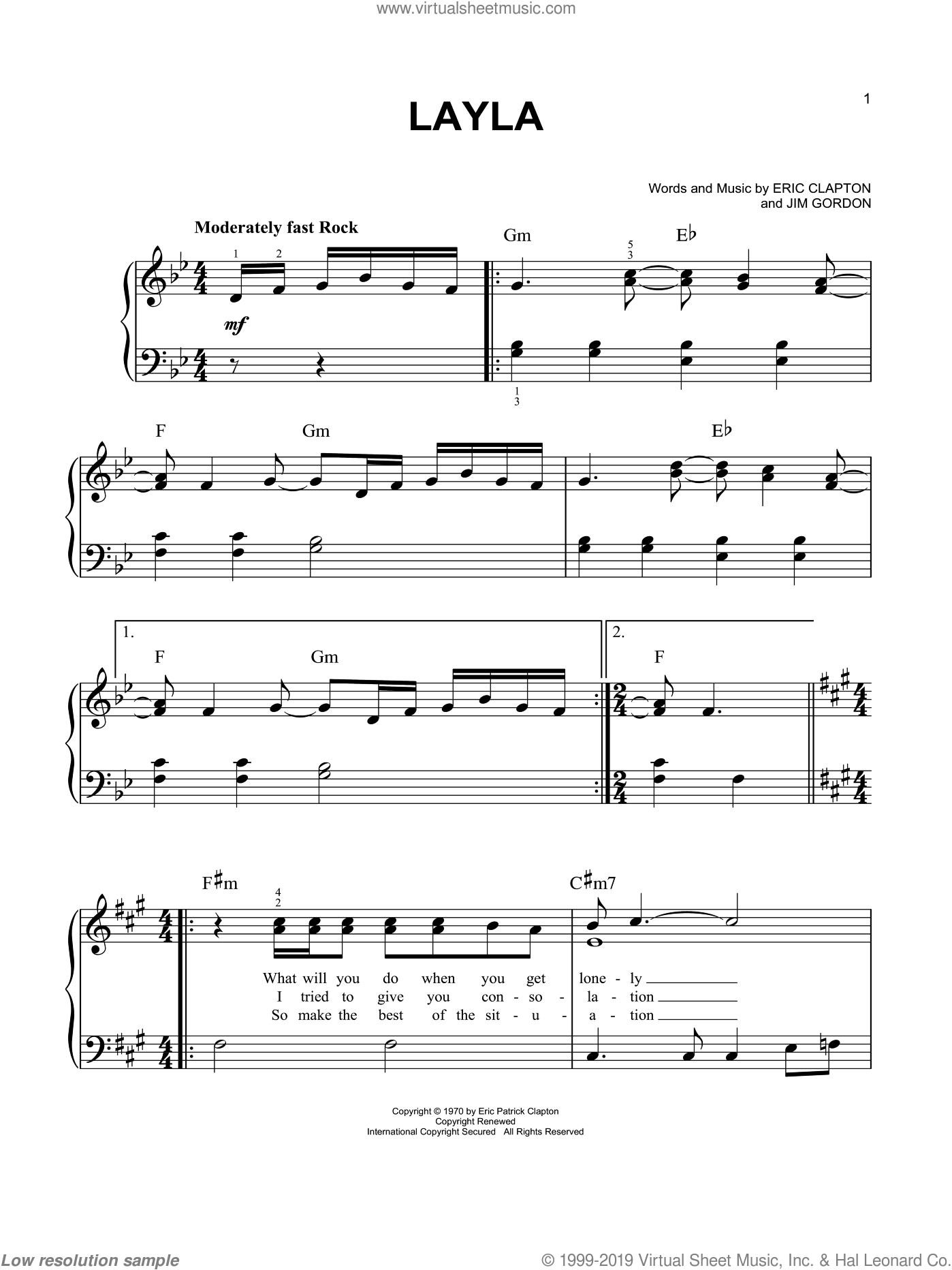 music_note Chords for LAYLA PIANO EXIT