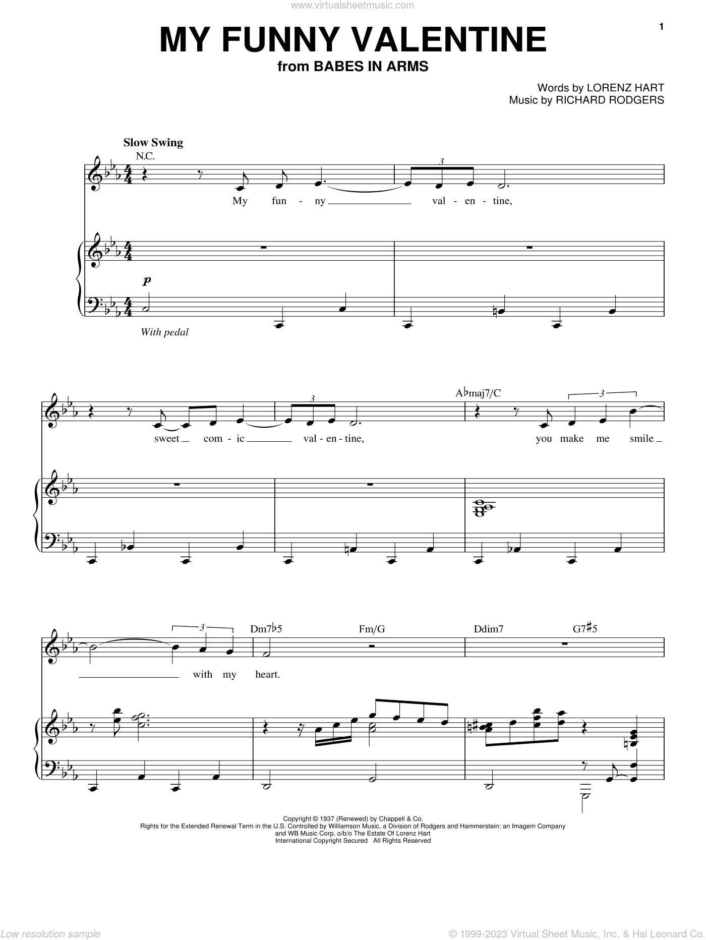 My Funny Valentine Free Sheet Music Pdf : funny, valentine, sheet, music, Baker, Funny, Valentine, Sheet, Music, Voice, Piano, [PDF]