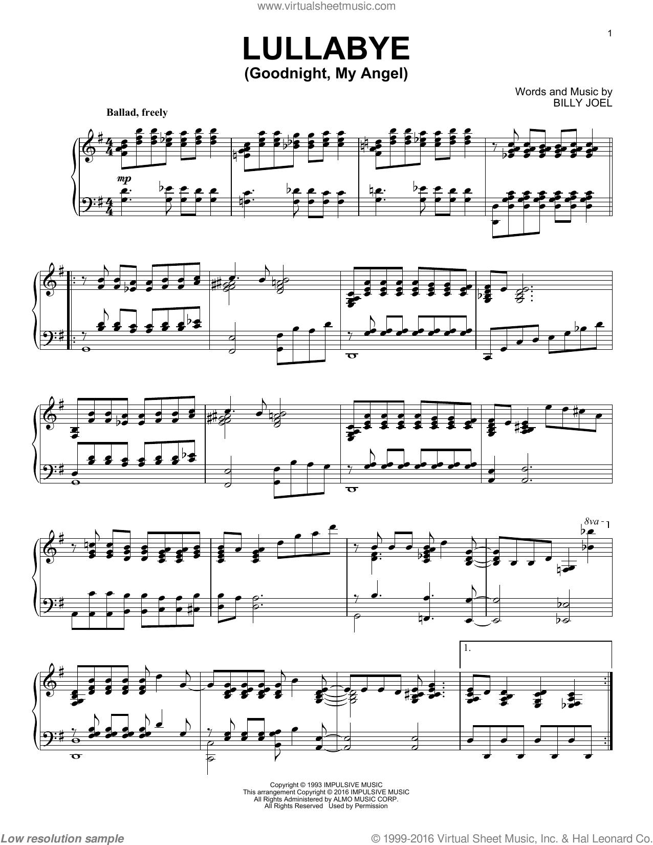 Billy Joel Lullaby Sheet Music : billy, lullaby, sheet, music, Music, Sheet, Partition, Free:, Billy, Lullaby