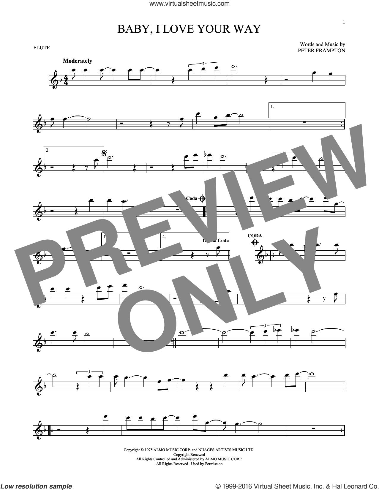 Peter Frampton Baby I Love Your Way Mp3 : peter, frampton, Frampton, Baby,, Sheet, Music, Flute, [PDF]