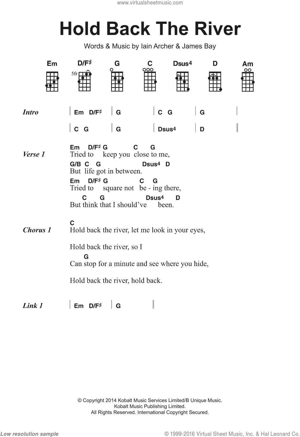 Chord Hold Back The River : chord, river, River, Sheet, Music, Voice,, Piano, Guitar