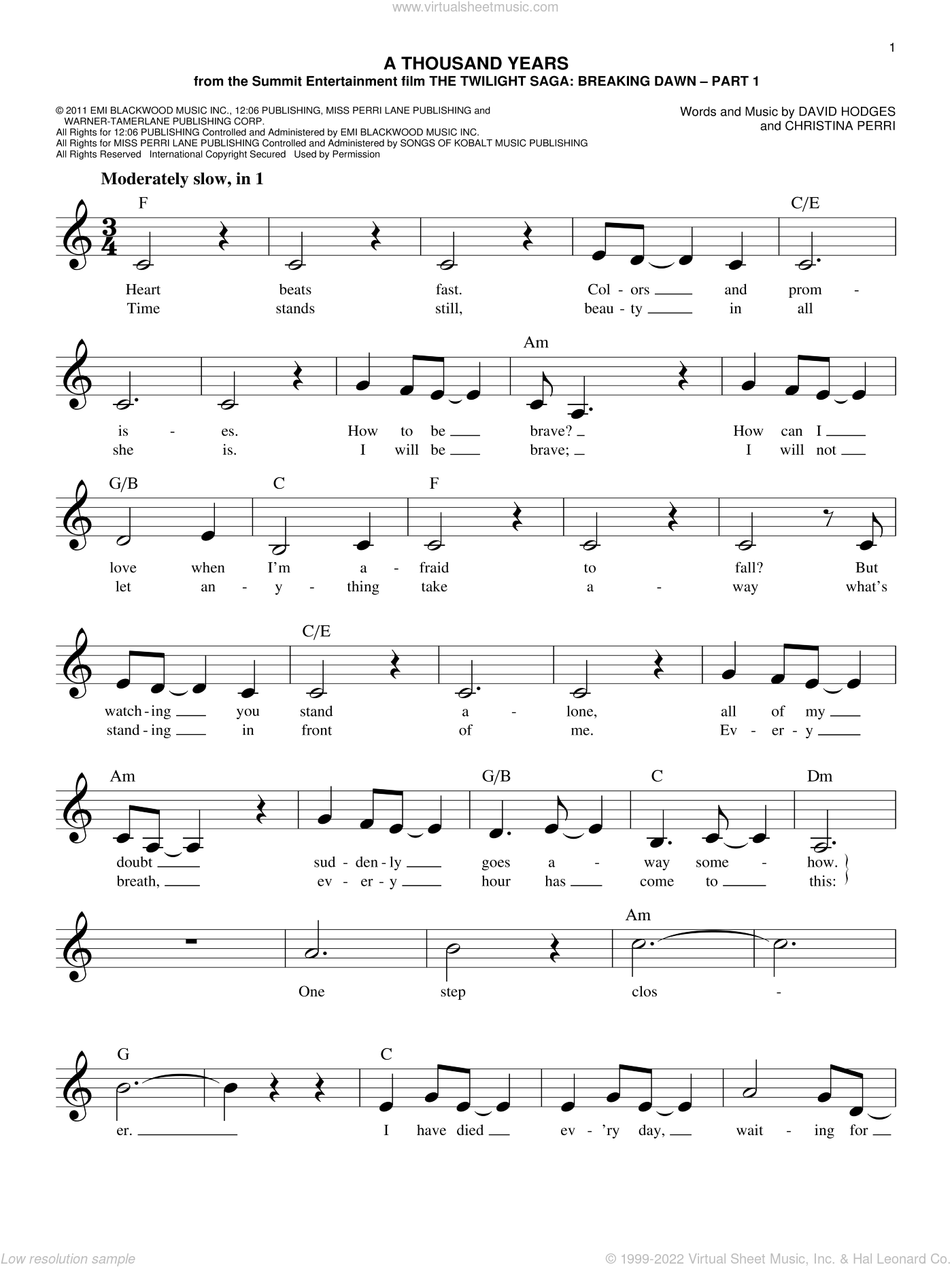A Thousand Years Christina Perri Mp3 : thousand, years, christina, perri, Perri, Thousand, Years, Sheet, Music, (fake, Book), [PDF]