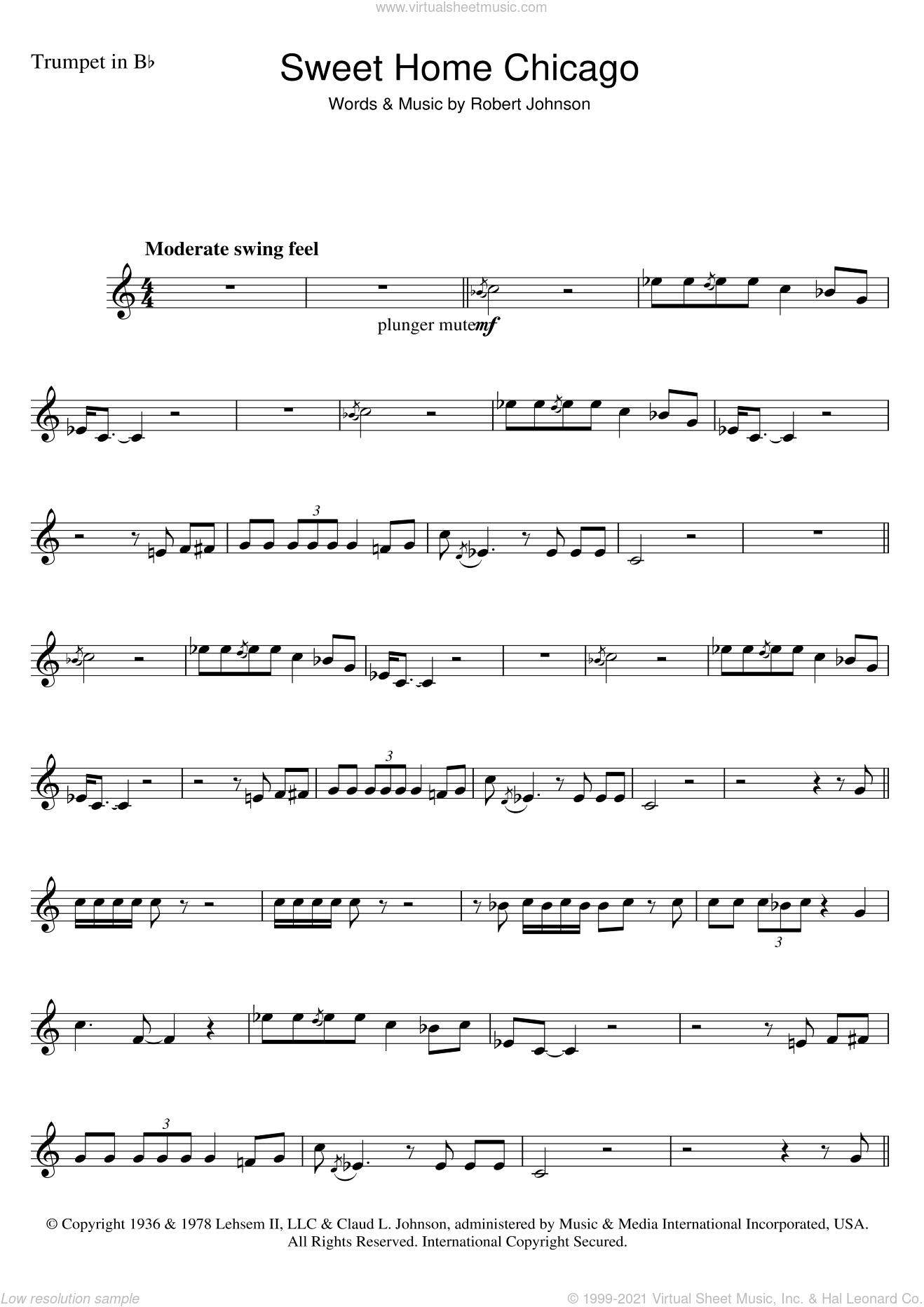 Sweet home chicago sheet music for ukulele. Johnson Sweet Home Chicago Sheet Music For Trumpet Solo Pdf