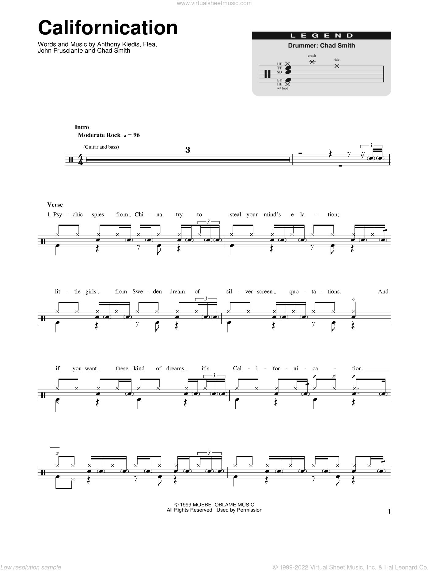 Red Hot Chili Peppers Under The Bridge Guitar Tab Pdf