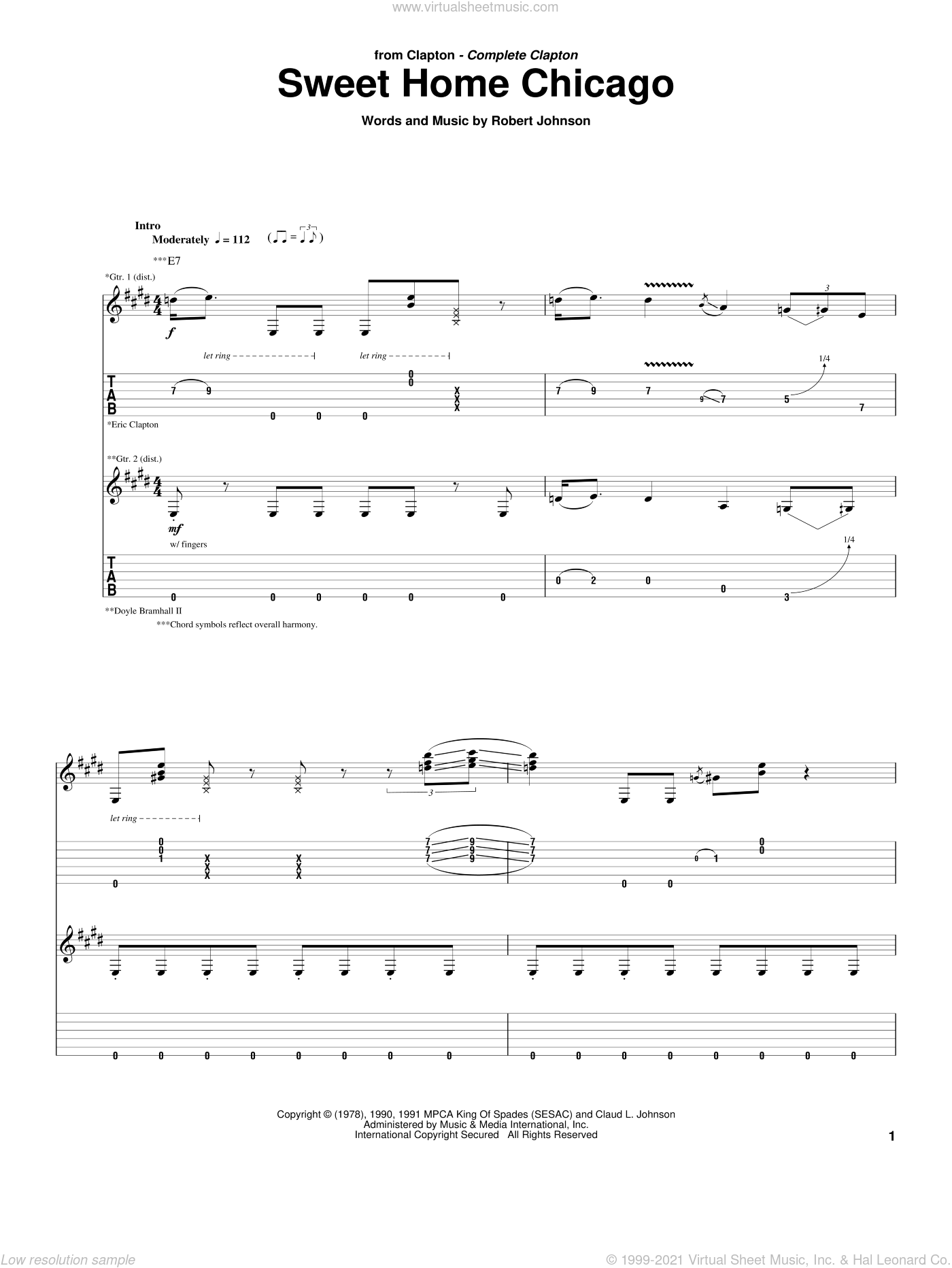 Jun 12, 2014· download and print in pdf or midi free sheet music for sweet home chicago by the blues brothers arranged by lkjhgfdsa for piano, trombone, trumpet (mixed trio) … Clapton Sweet Home Chicago Sheet Music For Guitar Tablature