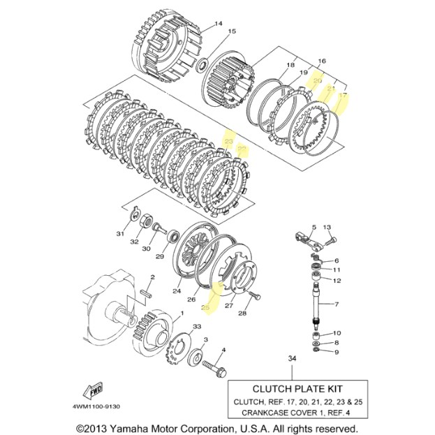 New OEM Yamaha Clutch Kit for 1999 to 2003 ROAD STAR