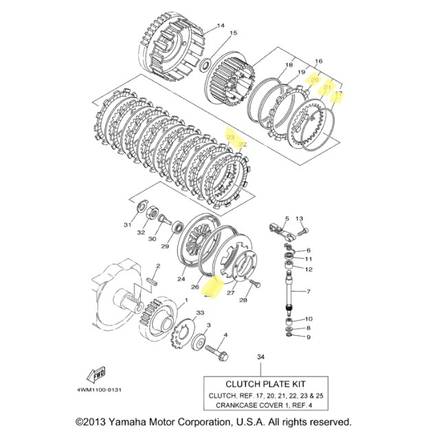 New OEM Yamaha Clutch Kit for 2004 to 2007 ROAD STAR