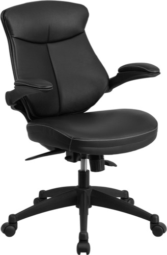 posture executive leather chair santa covers australia enhance your office black mesh mid back with flip up swivel angle adjustment and arms bl zp 804 gg