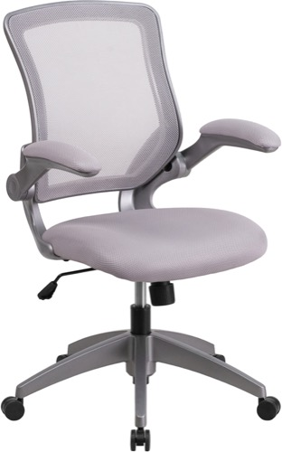 office chair fabric cheap throne for sale contemporary grey mesh with seat and flip mid back gray swivel task frame up arms bl zp 8805 gy gg