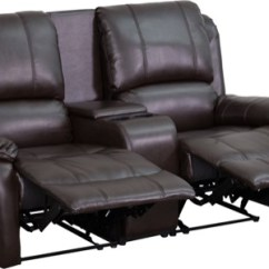 Theater Chairs With Cup Holders Target Club Chair Covers Enhance Your Home Space Recliner Seating Allure Series 2 Seat Reclining Pillow Back Brown Leather Unit Bt 70295 Brn Gg