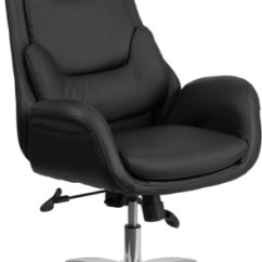 Black Leather Office Chair High Back Hanging Executive Chairs Swivel With Lumbar Pillow Bt 90027oh Gg View Larger Photo Email
