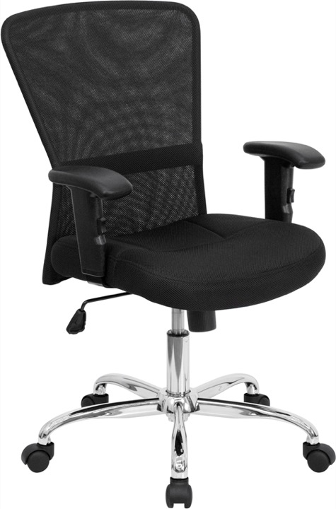 office chair with adjustable arms lowes chaise lounge chairs mid back mesh swivel view larger photo email