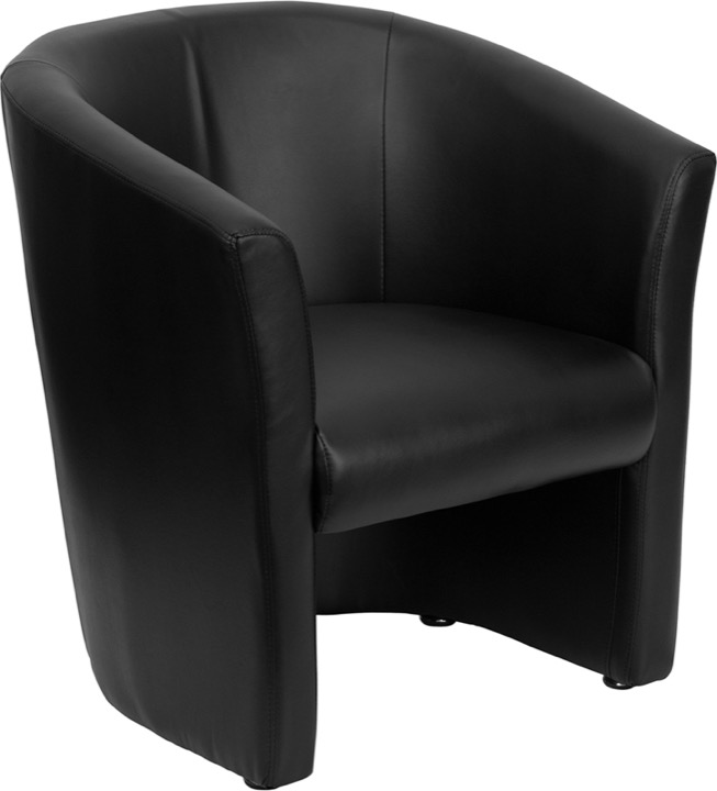 black leather reception chairs turkey hunting enhance your work space and lobby area with a guest chair barrel shaped go s 01 bk qtr gg