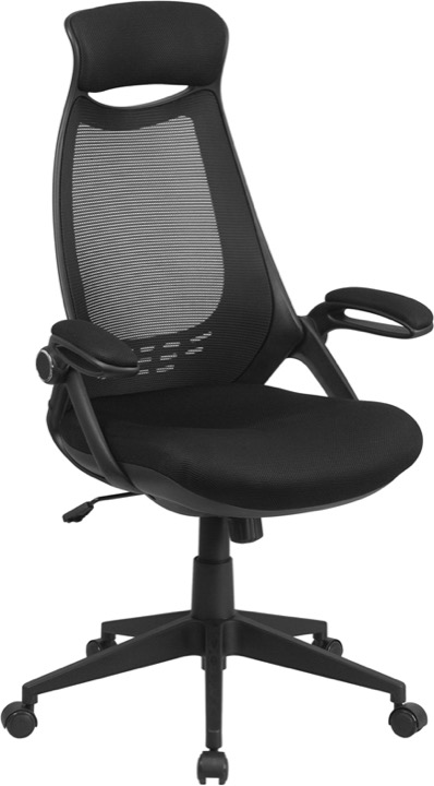 office chair high back oversized beach enhance your posture with a breathable mesh black executive swivel flip up arms hl 0018 gg