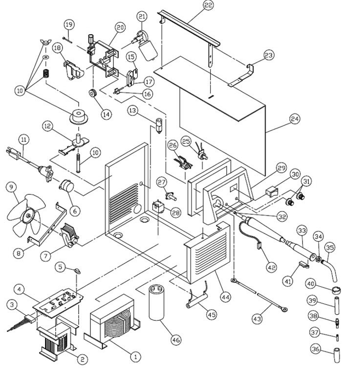 lincoln electric welder parts diagram liver panel 117 052 83105 century 105 amp mig phase control