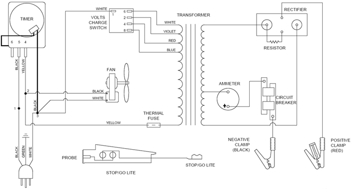 schumacher battery charger wiring diagram toyota tundra diagrams marquette library 6010a associated parts listmarquette 4