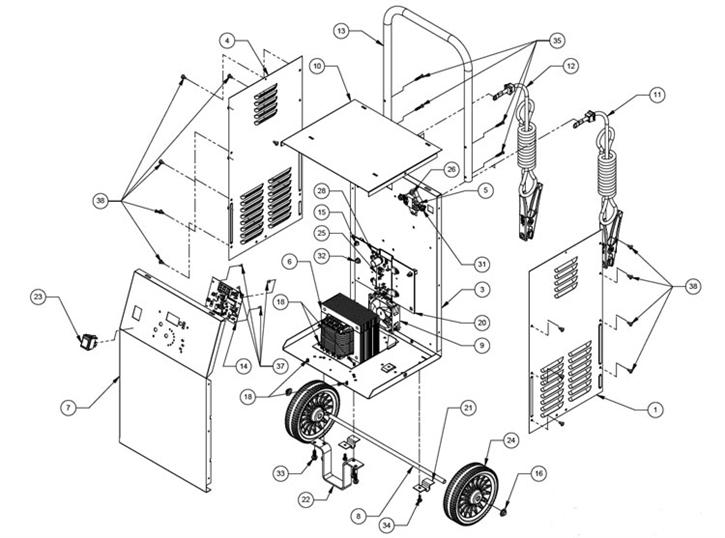 SE 1555A Schumacher Battery Charger Parts List