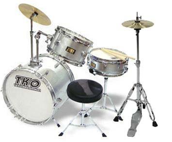 tko 99 junior 3 piece drum set with throne and sticks for kids children jr 10 colors