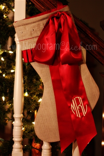monogrammed stockings for christmas