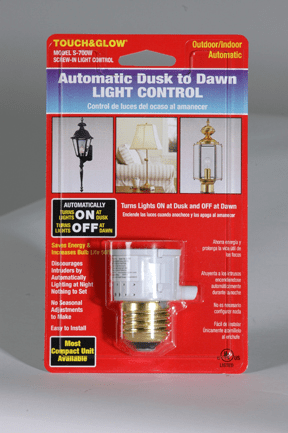 Two Pack DusktoDawn Light Control White