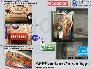 Low Volt Wiring diagram for Goodman R22 Heat Pump Package unit GPH****H with heat strips