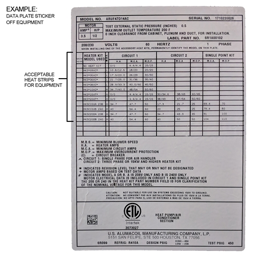 15 kw heat strip for carrier/bryant/payne air handlers wkf1502