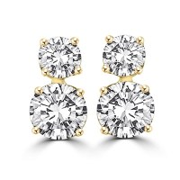This 'two-stone' earrings of round brilliant Diamond ...