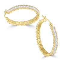 Diamond Essence Hoop earrings, covered with rich gleam of ...