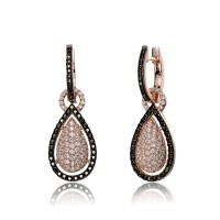 Beautiful Drop Earrings. Diamond Essence Round brilliant ...