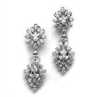 Diamond Essence Cocktail Earrings, 16.0 Cts.T.W. with Pear ...