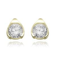 Diamond Essence Gold Vermeil stud earrings of round ...