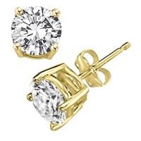 Diamond Essence ear studs, 0.5 carat each, set in 14K Gold ...