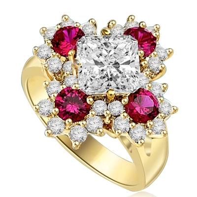 diamond essence floral ring