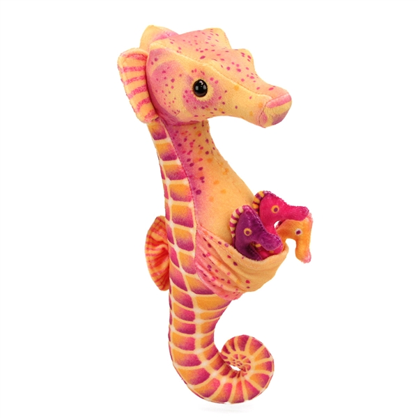 plush seahorse with babies