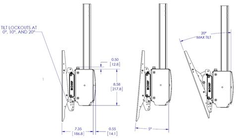 Chief XCM1U X-Large Single Pole Flat Panel Ceiling Mounts