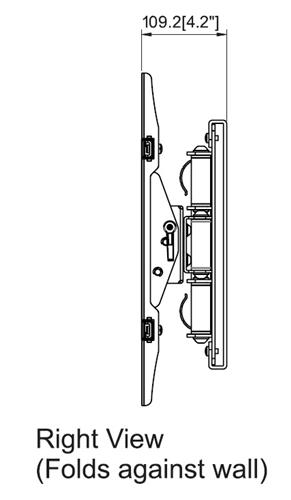 Samsung UN40JU7500F 31.5in extension wall mount bracket