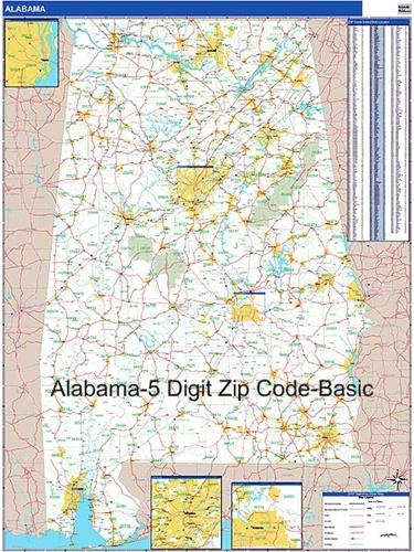 Alabama Zip Codes State Map