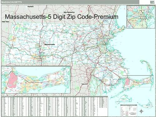 Massachusetts Zip Code Map from OnlyGlobescom