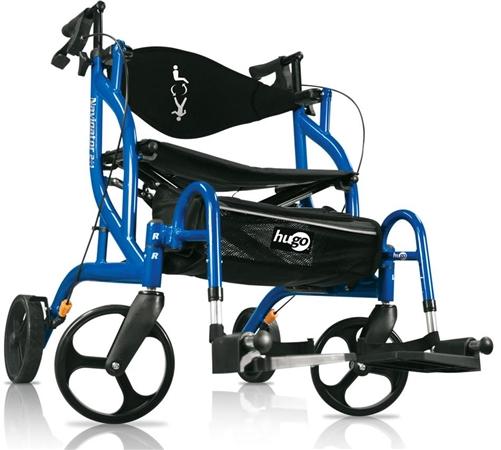 walker roller chair parsons chairs kirklands hugo rollator 943 transport wheelchair side alternative views